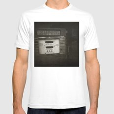 { super } SMALL White Mens Fitted Tee