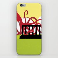 Giant Squid Attacks Edin… iPhone & iPod Skin
