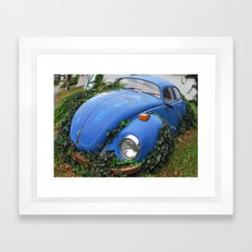 Nature: 1 - Volkswagen Beetle: 0 Framed Art Print