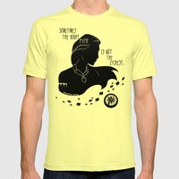 The Right Path Mens Fitted Tee Lemon SMALL