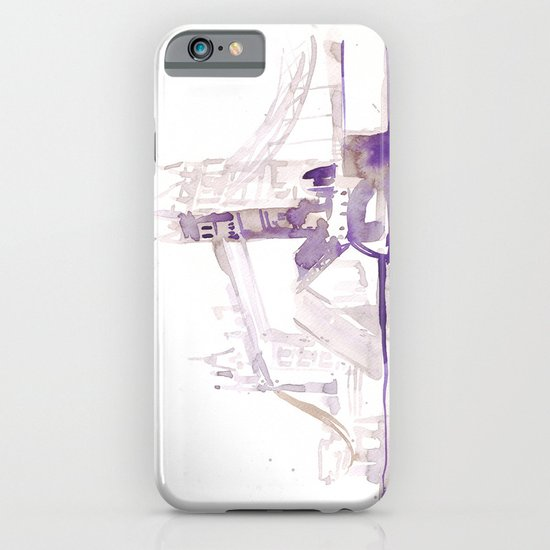 Watercolor landscape illustration_London Bridge iPhone & iPod Case