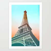 eiffel Art Prints featuring Eiffel  by Ben Fischl
