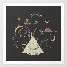 All-Sleeping Eye Art Print