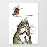 A Cat Ponders, Fish Or P… Canvas Print