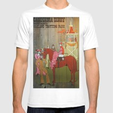 Derby White SMALL Mens Fitted Tee