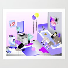 Bathroom Party Art Print
