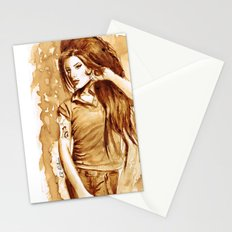 A little Amy in my coffee Stationery Cards