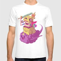 Finn And Jake Mens Fitted Tee White SMALL