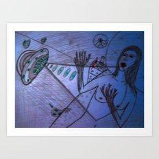 LSD girl Art Print