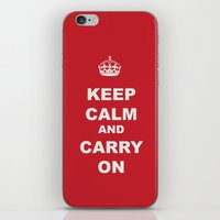 KEEP CALM AND CARRY ON iPhone & iPod Skin