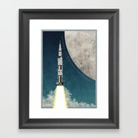Apollo Rocket Framed Art Print