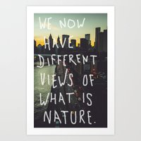 Different Views Art Print