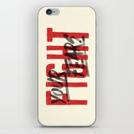 iPhone & iPod Skin featuring Fight Your Fears by CaliDoso