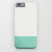 Mint and black spot iPhone 6 Slim Case