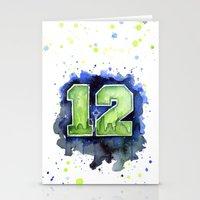 12th Man Seahawks Seattl… Stationery Cards