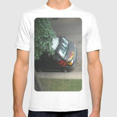 Smokin'! ~ 70s-ish van SMALL White Mens Fitted Tee