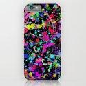Paint Splatter 1 - Black iPhone & iPod Case