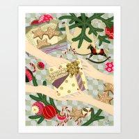Merry Christmas Gift Art Print