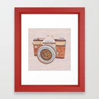 Wood Canon Framed Art Print