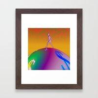 Pop Globe Walker Framed Art Print