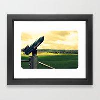Overlooking The Battlefi… Framed Art Print