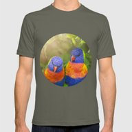 Birds In Love Mens Fitted Tee Lieutenant SMALL