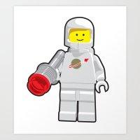 Vintage Lego White Space… Art Print