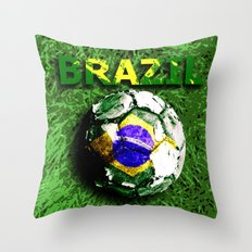 Old football (Brazil) Throw Pillow