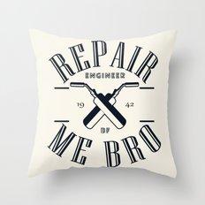 Repair Me Bro Throw Pillow