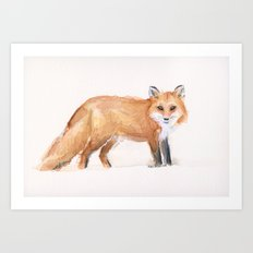 Fox Watercolor Art Print