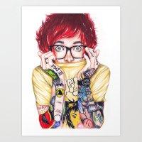 TeenHearts Art Print