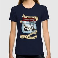 Father Of The Atom Bomb Womens Fitted Tee Navy SMALL