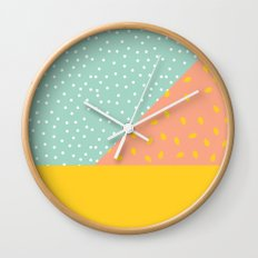 80's Abstract 1 Wall Clock
