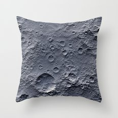 Moon Surface Throw Pillow