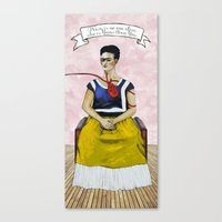 Frida Kahlo with Dr. Suess Quote #2 Canvas Print