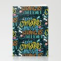 DON'T COMPARE YOURSELF TO STRANGERS ON THE INTERNET Stationery Cards