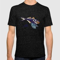Ocean Fish Mens Fitted Tee Tri-Black SMALL