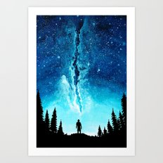 Alone In The Galaxy Art Print