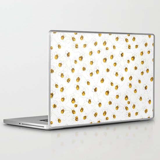 Busy buzzy bees Laptop & iPad Skin