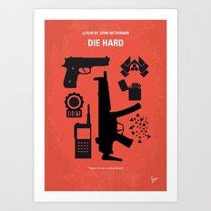No453 My Die Hard minimal movie poster Art Print