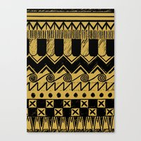 Canvas Print featuring Aztec Egypt by DeMoose_Art