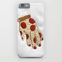 iPhone & iPod Case featuring PIZZA HAND by Josh LaFayette