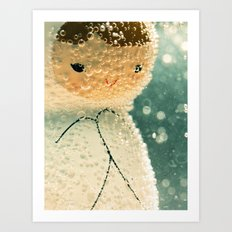 Snuggle bubble Art Print