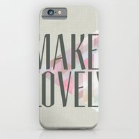 iPhone & iPod Case featuring Make Lovely // Stone by Magpie Paper Works