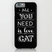 All you need is love and cat! iPhone 6 Slim Case