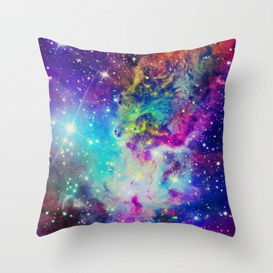 Fox Nebula Throw Pillow
