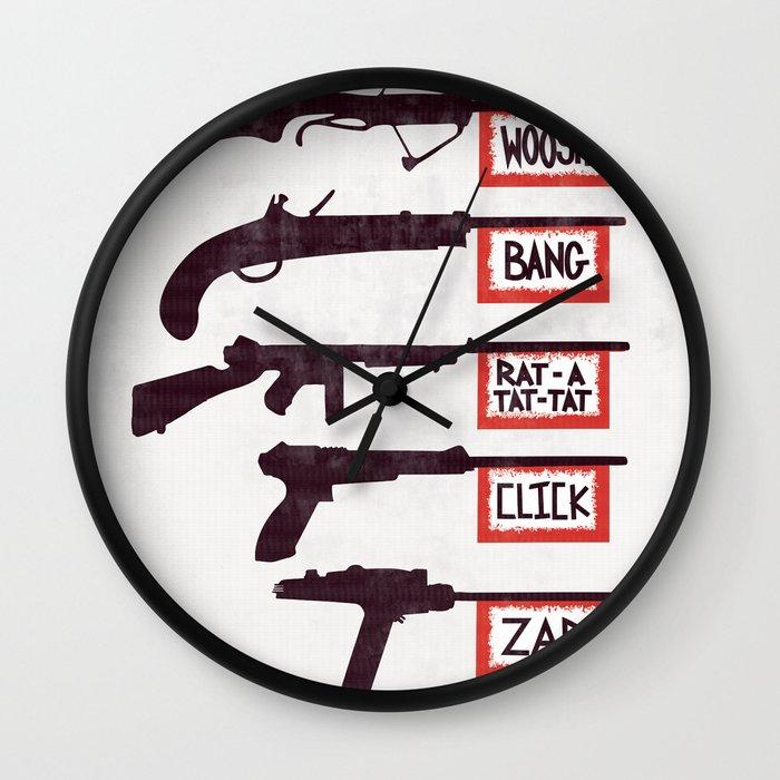 a brief history of non violence wall clock by ramsay