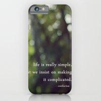 confucius say: life is simple iPhone 6 Slim Case