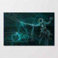 A Birthday Spacetacle! Canvas Print