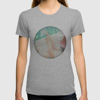 peace and tranquility Womens Fitted Tee Athletic Grey SMALL